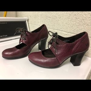 Born Oxblood Laced Heeled Loafer